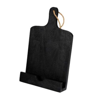 COOK BOOK STAND WOOD BLACK